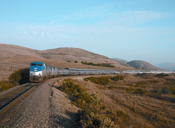 Amtrak's Coast Starlight train route