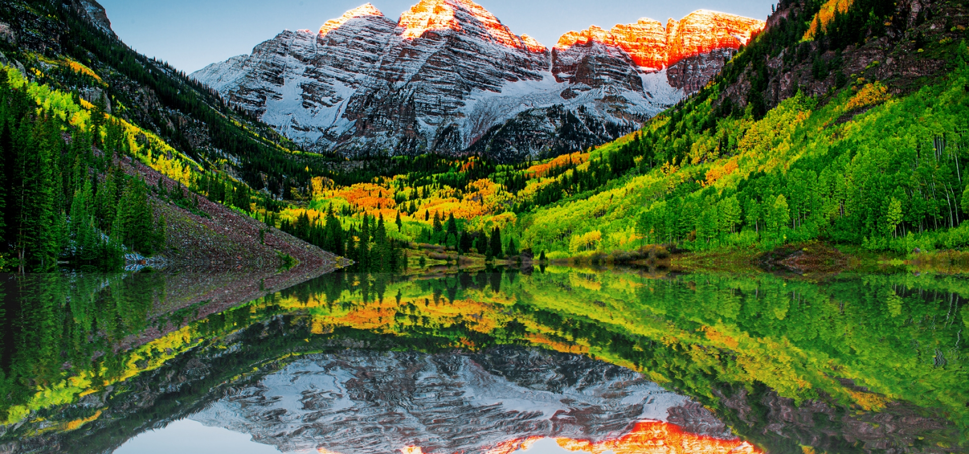 Maroon Bells Lake at Rocky Mountain National Park