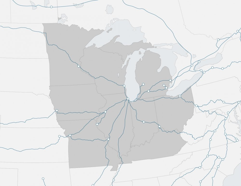 region map of Midwest