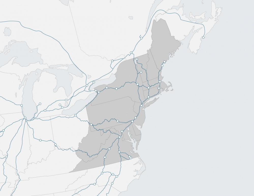 region map of Northeast
