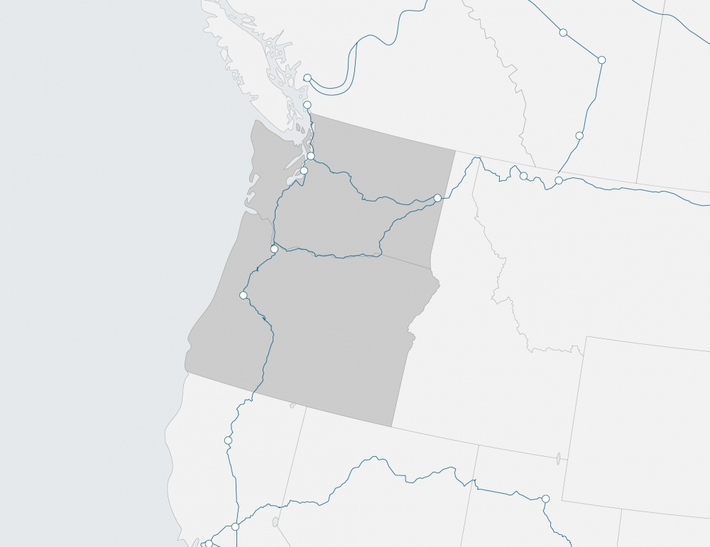 region map of Northwest
