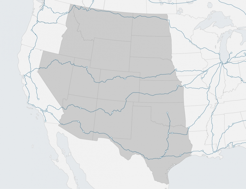 region map of western US